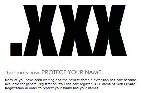 XXX domains and the potential benefits of registering a .